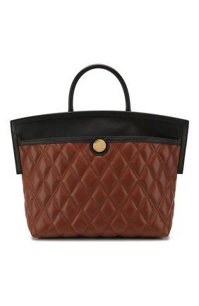 Женская сумка society small BURBERRY коричневого цвета, арт. 8023125   Фото 1