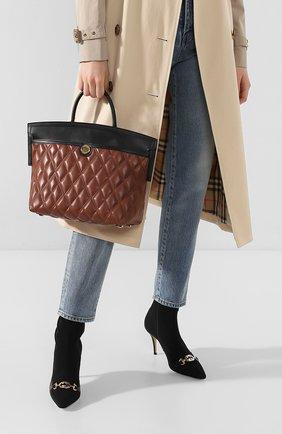 Женская сумка society small BURBERRY коричневого цвета, арт. 8023125   Фото 2