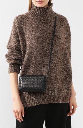 Женская сумка BOTTEGA VENETA черного цвета, арт. 609407/VCPP5 | Фото 2