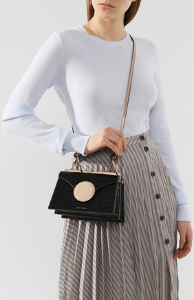 Женская сумка phoebe mini DANSE LENTE черного цвета, арт. MINI PH0EBE/TAN/BLACK | Фото 2