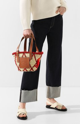 Женская сумка basket small LOEWE красного цвета, арт. 303.50.S93 | Фото 2