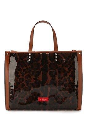 Женская сумка-тоут valentino garavani grande plage small  VALENTINO леопардового цвета, арт. TW2B0D21/DYU | Фото 1