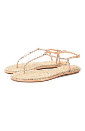 Женские текстильные сандалии diana RENE CAOVILLA розового цвета, арт. C08932-010-R001V790 | Фото 1