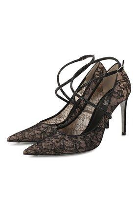 Женская текстильные туфли twista RENE CAOVILLA черного цвета, арт. C10414-100-RP01V050 | Фото 1