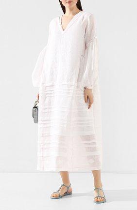 Женские текстильные сандалии amalia RENE CAOVILLA голубого цвета, арт. C10421-010-R001V875 | Фото 2