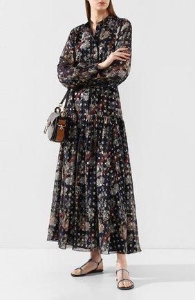 Женские текстильные сандалии amalia RENE CAOVILLA синего цвета, арт. C10427-010-R001X626 | Фото 2