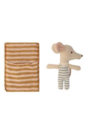 Детского игрушка новорожденный мышонок MAILEG бежевого цвета, арт. 16-9711-01   Фото 1