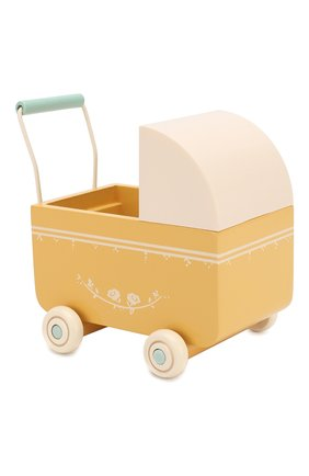 Детского игрушка коляска для новорожденных MAILEG желтого цвета, арт. 11-8001-02   Фото 1