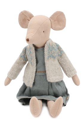 Детского игрушка мышка в зимнем наряде медиум MAILEG разноцветного цвета, арт. 16-9782-00   Фото 1
