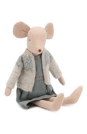 Детского игрушка мышка в зимнем наряде медиум MAILEG разноцветного цвета, арт. 16-9782-00   Фото 2