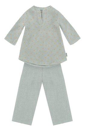 Детского одежда для игрушки пижама 3 MAILEG голубого цвета, арт. 16-9323-01   Фото 1