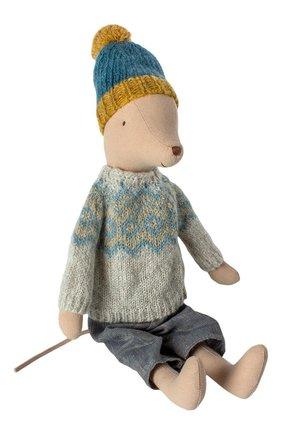 Детского игрушка мышонок в зимнем наряде медиум MAILEG разноцветного цвета, арт. 16-9783-00   Фото 1