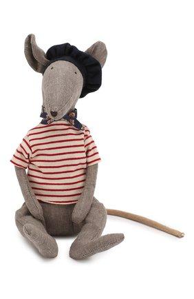 Детского игрушка крыса в сырной коробке MAILEG серого цвета, арт. 16-9970-00 | Фото 1
