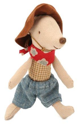 Детского игрушка мышонок ковбой MAILEG бежевого цвета, арт. 16-9723-01 | Фото 1