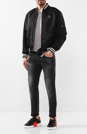 Мужские кожаные кеды PHILIPP PLEIN черного цвета, арт. S20S MSC2732 PLE075N | Фото 2