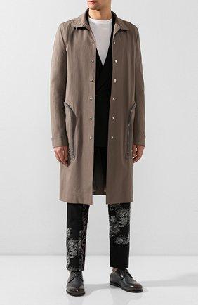 Мужской кожаные дерби MARSELL темно-серого цвета, арт. MM2591/PELLE CERATA | Фото 2