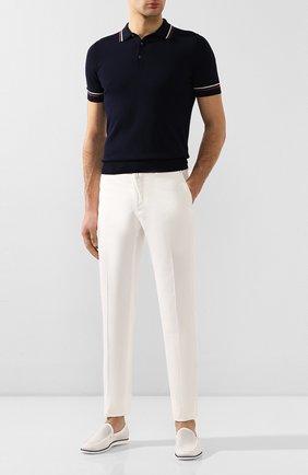 Мужские кожаные лоферы ALDO BRUE белого цвета, арт. AB7523J-MA | Фото 2