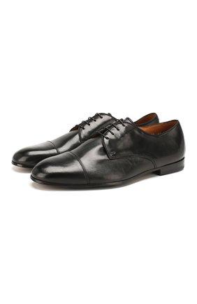 Мужские кожаные дерби DOUCAL'S черного цвета, арт. DU2365PANAUF002NN00 | Фото 1