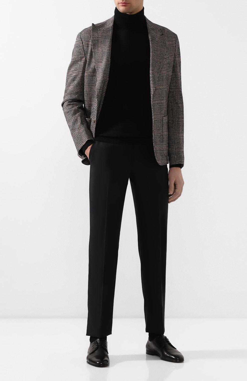 Мужские кожаные дерби DOUCAL'S черного цвета, арт. DU2365PANAUF002NN00 | Фото 2
