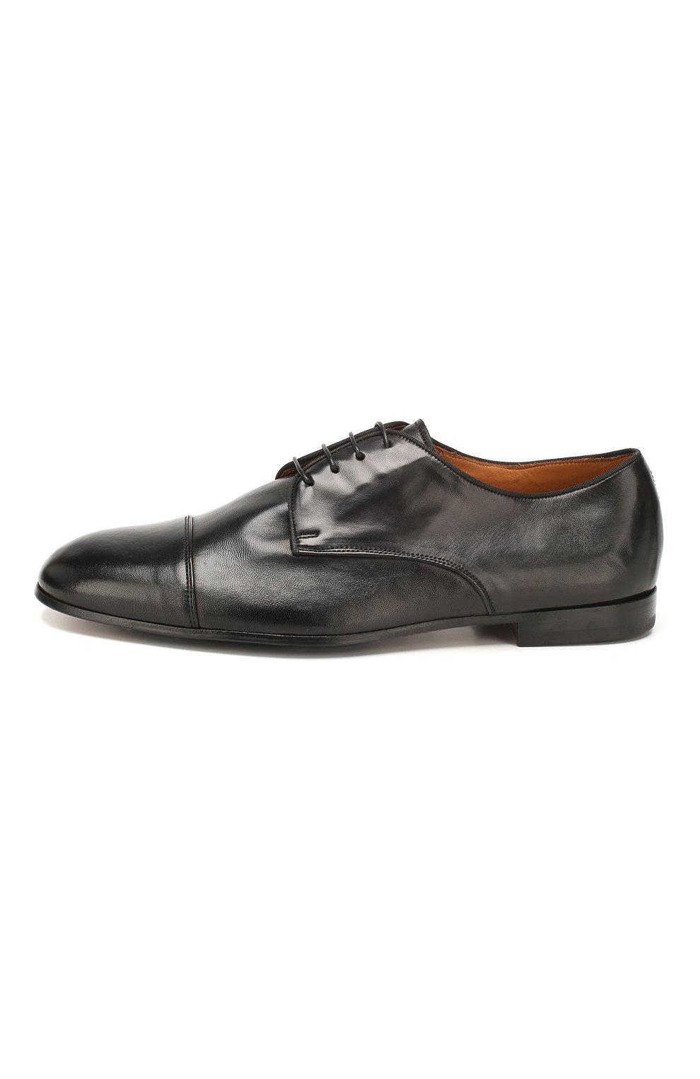 Мужские кожаные дерби DOUCAL'S черного цвета, арт. DU2365PANAUF002NN00 | Фото 3