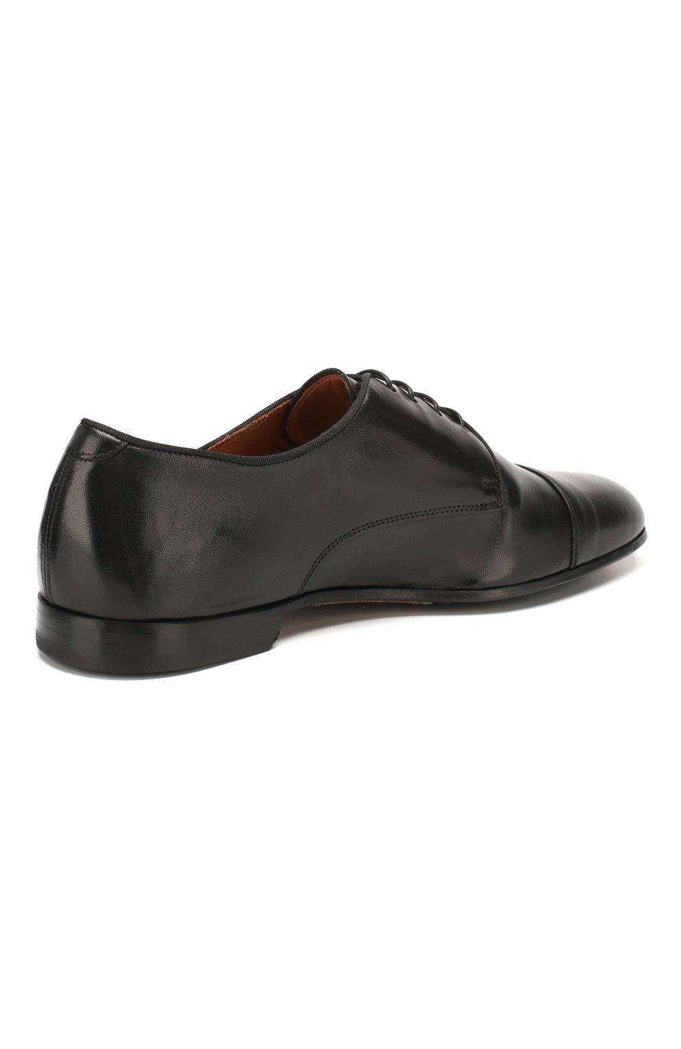 Мужские кожаные дерби DOUCAL'S черного цвета, арт. DU2365PANAUF002NN00 | Фото 4