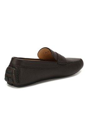 Мужские кожаные мокасины BRIONI темно-коричневого цвета, арт. QYP00L/P7731   Фото 4