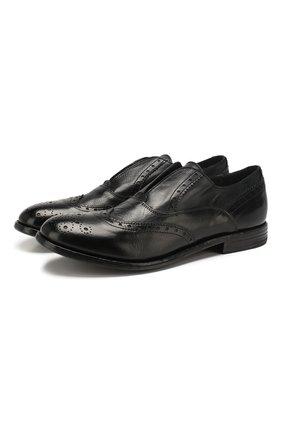 Мужские кожаные оксфорды MOMA черного цвета, арт. 2FS063-CA   Фото 1