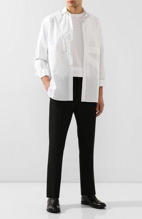 Мужские кожаные оксфорды MOMA черного цвета, арт. 2FS063-CA   Фото 2