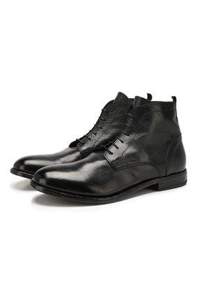 Мужские кожаные ботинки MOMA черного цвета, арт. 2BS030-CA   Фото 1