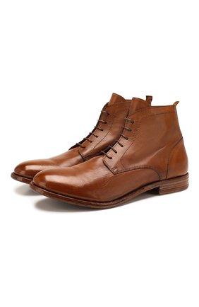 Мужские кожаные ботинки MOMA коричневого цвета, арт. 2BS030-CA   Фото 1