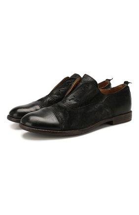 Мужские кожаные оксфорды MOMA черного цвета, арт. 2AS035-BA   Фото 1