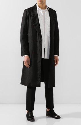Мужские кожаные оксфорды MOMA черного цвета, арт. 2AS035-BA   Фото 2