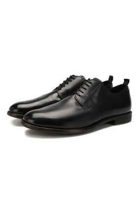 Мужской кожаные дерби MOMA черного цвета, арт. 2AS034-MU | Фото 1
