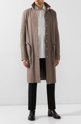 Мужской кожаные дерби MOMA черного цвета, арт. 2AS034-MU | Фото 2