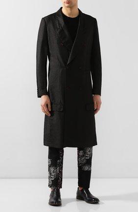 Мужские кожаные оксфорды MOMA темно-синего цвета, арт. 2AS029-CA   Фото 2