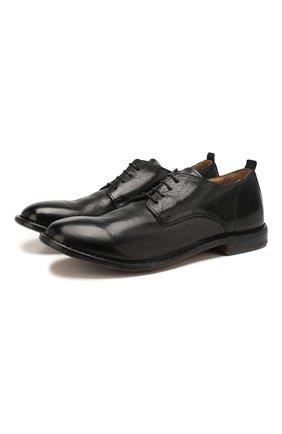 Мужской кожаные дерби MOMA черного цвета, арт. 2AS024-CU | Фото 1