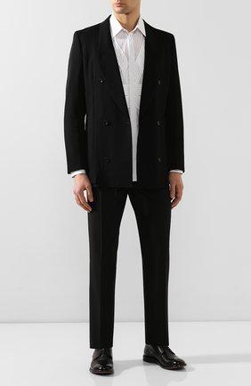 Мужской кожаные дерби MOMA черного цвета, арт. 2AS024-CU | Фото 2