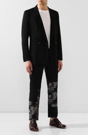 Мужской кожаные дерби MOMA темно-коричневого цвета, арт. 2AS024-CU   Фото 2