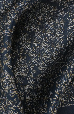 Мужской шелковый платок ZILLI темно-синего цвета, арт. 50706/HANDKERCHIEFS | Фото 2