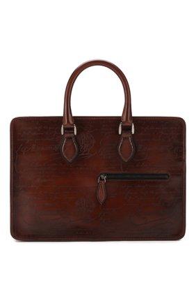 Мужская кожаная сумка для ноутбука BERLUTI коричневого цвета, арт. M200497 | Фото 1