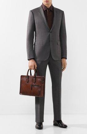 Мужская кожаная сумка для ноутбука BERLUTI коричневого цвета, арт. M200497 | Фото 2