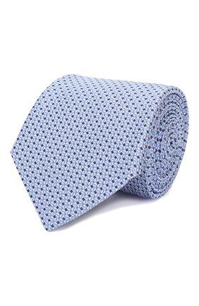 Мужской шелковый галстук CANALI голубого цвета, арт. 18/HJ02553   Фото 1