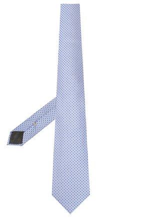 Мужской шелковый галстук CANALI голубого цвета, арт. 18/HJ02553   Фото 2