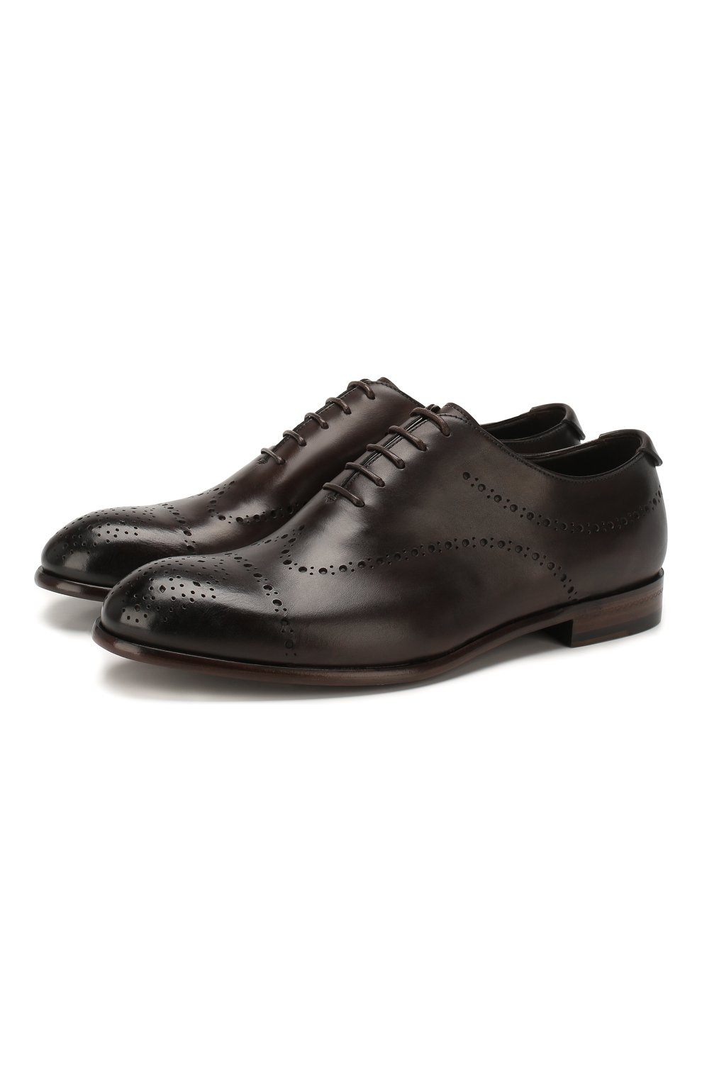 Мужские кожаные оксфорды ERMENEGILDO ZEGNA коричневого цвета, арт. A4385X-LHNAX | Фото 1