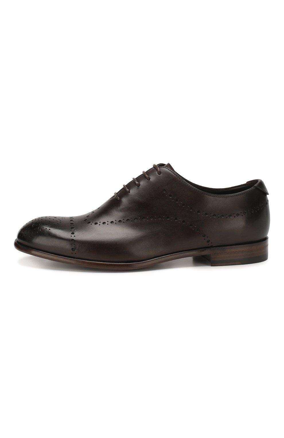 Мужские кожаные оксфорды ERMENEGILDO ZEGNA коричневого цвета, арт. A4385X-LHNAX | Фото 3