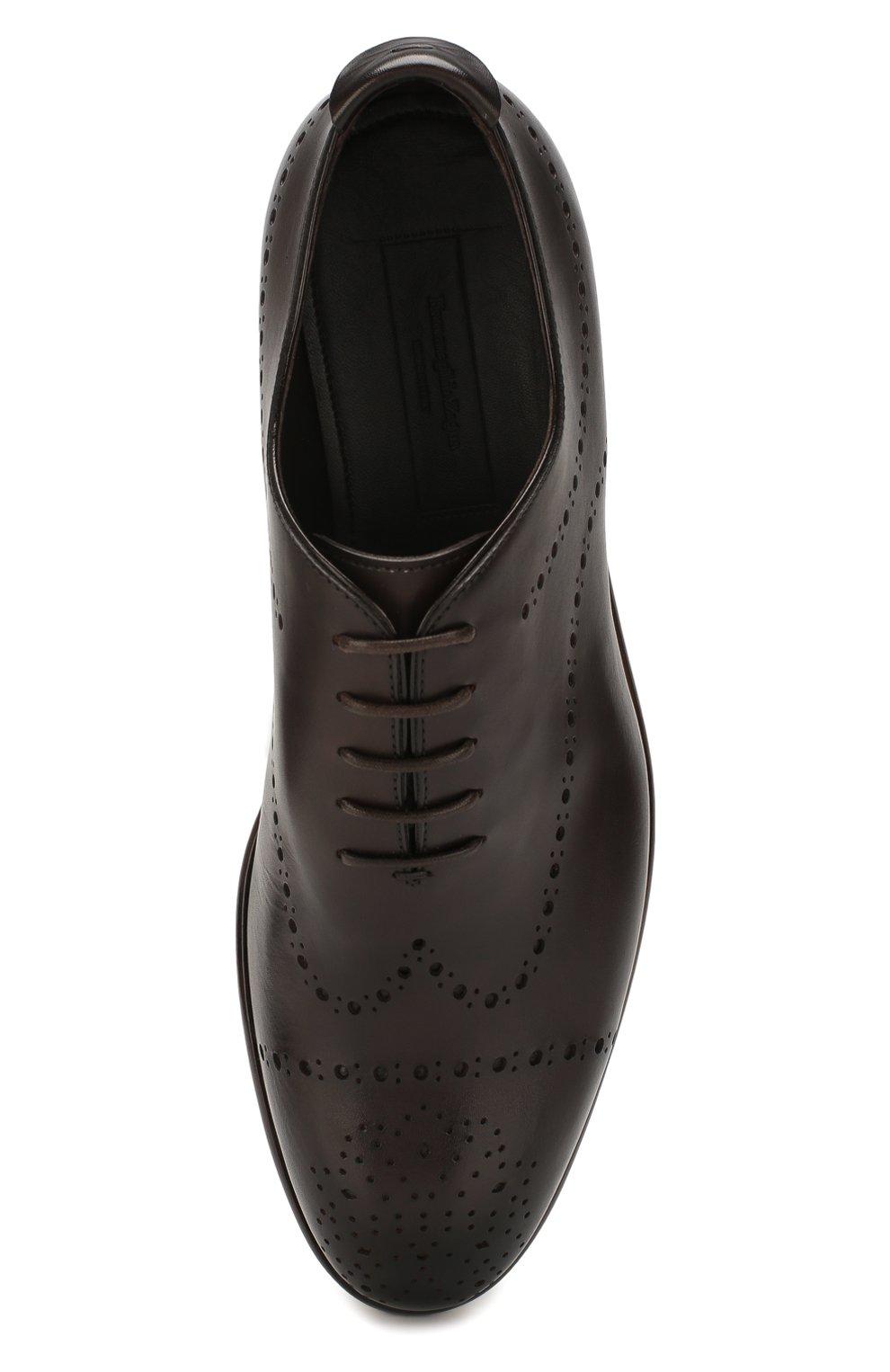 Мужские кожаные оксфорды ERMENEGILDO ZEGNA коричневого цвета, арт. A4385X-LHNAX | Фото 5