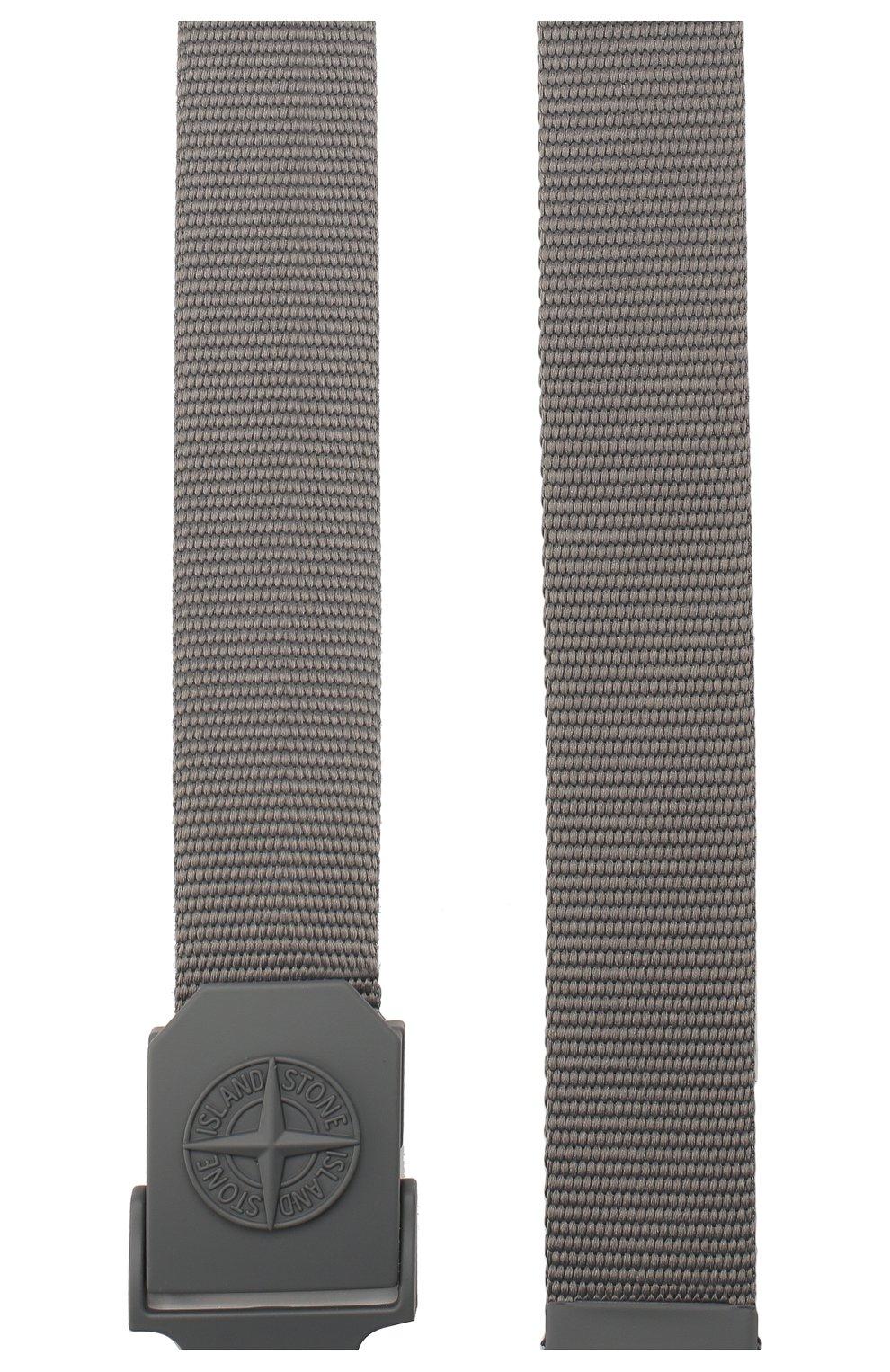 Мужской текстильный ремень STONE ISLAND темно-серого цвета, арт. 721594071   Фото 2