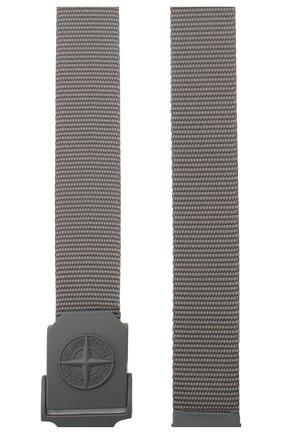 Мужской текстильный ремень STONE ISLAND темно-серого цвета, арт. 721594071 | Фото 2