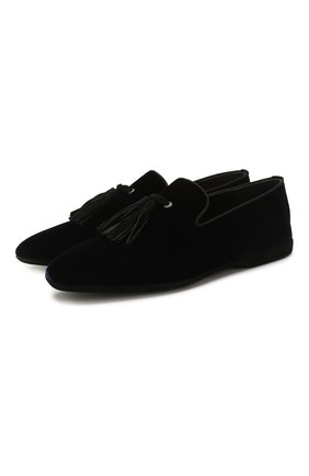 Мужского текстильные домашние туфли FARFALLA темно-синего цвета, арт. G20NL | Фото 1