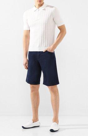 Мужские кожаные мокасины ZILLI белого цвета, арт. MDT-M041/0B1 | Фото 2